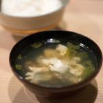 うを徳 - 2017.8 東京湾穴子と中国産松茸のお椀、白米