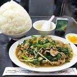 中国料理 登龍 - ニラ肉炒め定食(大盛)