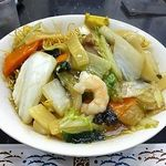 中国料理 登龍 - 五目かた焼きそば(大盛)