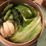 くだん - 季節の野菜のせいろ蒸し