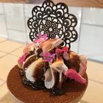 デザートカフェ ハチドリ - ショコラとバナナのパフェ 3種のアイス