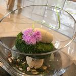 デザートカフェ ハチドリ - 抹茶とブロンドショコラのパフェ 和のデザイン