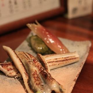 手打ち蕎麦切り 海望 - 料理写真:穴子の白焼き