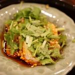 の弥七 - 前菜三段盛り:美桜鶏の揚げ物
