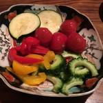 萌蔵 - 夏野菜の浅漬け