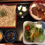 亀八 - ざるそばとミニソースカツ丼1000円⭐️ミニじゃないww美味しい(´。✪ω✪。`)