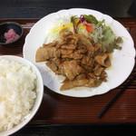 食事処 葵 - 肉生姜焼き定食 ライス大