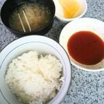 レストランかねひろ - セットのライス(小)/みそ汁