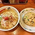 塩元帥 - 梅塩ラーメン&焼飯セット