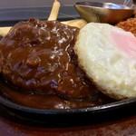 肉の万世 - 料理写真:ハンバーグ&トンカツ(2017.08)