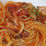 伊太利亜市場BAR - 真ダコのアラビアータスパゲッティ;アップ