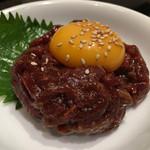ホルモン酒場風土 - ラムレアステーキユッケ