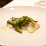 リストランテ ハナタニ - ☆明石蛸のカルパッチョ セロリと胡瓜のサルサヴェルデ