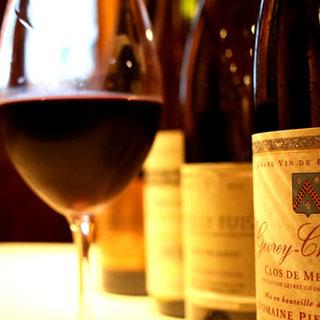 フランス全域からソムリエが選び抜いたワインを多数ご用意!