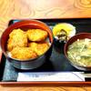 藤屋食堂 - 料理写真:ソースカツ丼 上ヒレ¥1130 暑い夏でもお味噌汁を頂くとホッとしますね。