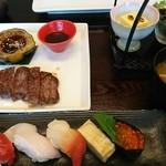 71449722 - ステーキと寿司のセット