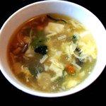 紫福庵 - 「日替わり満腹《寿》昼菜」スープ