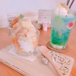 トントンカフェ - メロンソーダ750円