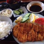 藤乃実 - 味噌ロースカツ定食 ¥1,404