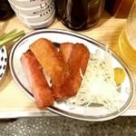 立呑み 晩杯屋 - ハムカツ310円