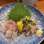 あづみ野 勝味庵 - いわし定食(松)(\1,650) 刺身