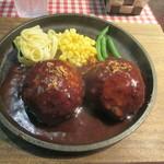 ハンバーグ&ステーキ食堂 KURAUZO - ハンバーグ300g