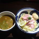 九十九里煮干つけ麺 志奈田 - 純濃煮干味玉つけ麵