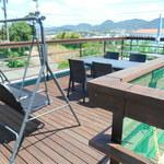 ソラトカフェ - 2階のテラス席
