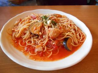 ハンバーグ&とんこつカレーの店 洋食バル マカロニ食堂 - スパゲティ(ノ´∀`*)
