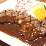 71462925 - 国産熟成肉ステーキプレート 1500円 の岩手県産熟成肉