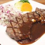 71462937 - 国産熟成肉ステーキプレート 1500円 の岩手県産熟成肉