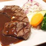 格之進 Nikutell  - 国産熟成肉ステーキプレート 1500円 の岩手県産熟成肉