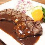 71462951 - 国産熟成肉ステーキプレート 1500円 の岩手県産熟成肉
