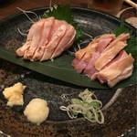 炭焼家金鳥 - 薩摩鶏むね&鶏ももたたき