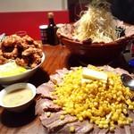 71465959 - カレー丼とネギもやしつけ麺