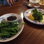 ビア ホイ チョップ - 空芯菜とおつまみパクチー