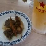 弁慶 - シロ・フワ・ハチノスと生ビール