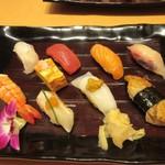 71470962 - 仕上げはこの店自慢の寿司盛り1450円です。