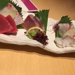 天ぷらと旬の肴 田丸 - 刺身盛り