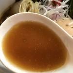 麺処 秋もと - 【2017.7.21】鰹出汁香る冷たいスープ。
