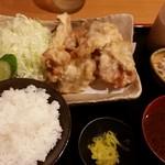 マタネ食堂 - 鶏天定食