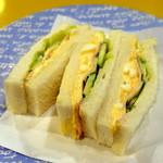 シーザー - ハム玉子サンドモーニングセット500円