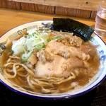 自家製麺 佐藤 - 太麺背脂中華