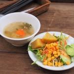 アムリタ食堂 - サラダ、スープ