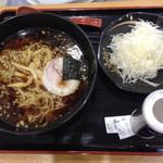 四六時中 - ねぎブラックラーメン(税込700円)
