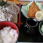呑み喰い処 奥飛騨 - ざるそば定食(680円)