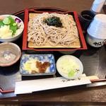 九尾 - 蕎麦とミニヤシオマス丼1320円