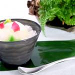 京の麩菓子屋 ゆふころろ - 【夏季限定】氷麩水シリーズ 桃の薄氷(うすらい)