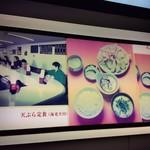 天ぷら定食ふじしま - 看板の左に写ってるのが店内のカウンターです
