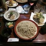 山の飯 沙羅 - 山菜天のセット